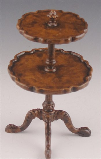 Queen AnneTwo Tier Table - Click Image to Close