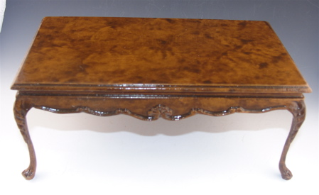 Burled Walnut Traditional Dining Table Traditional Walnut Dintbl - Burled walnut dining table